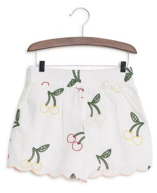 Bestickte Shorts aus Leinen und Baumwolle Cherry STELLA MCCARTNEY