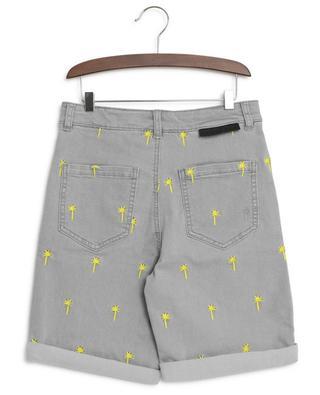 Palms embroidered denim Bermuda shorts STELLA MCCARTNEY