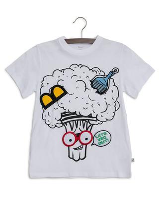 T-Shirt mit abnehmbaren Patchs Broccoli Funny Face STELLA MCCARTNEY