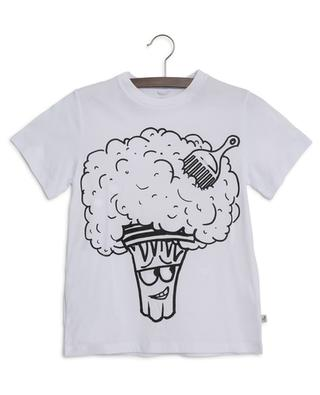 T-Shirt mit abnehmbaren Patchs Broccoli Funny Face STELLA MCCARTNEY
