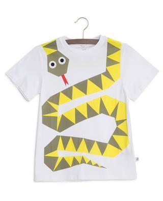 T-Shirt aus Baumwolle mit Print Snake STELLA MCCARTNEY