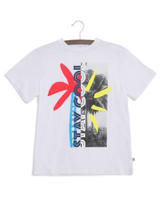 Multicolour Palm slogan T-shirt STELLA MCCARTNEY
