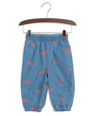 Cherry printed chambray trousers STELLA MCCARTNEY