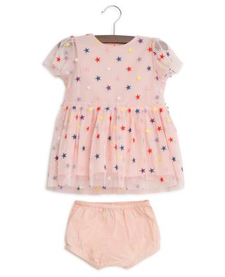 Multicolour Stars embroidered tulle dress and bloomers STELLA MCCARTNEY