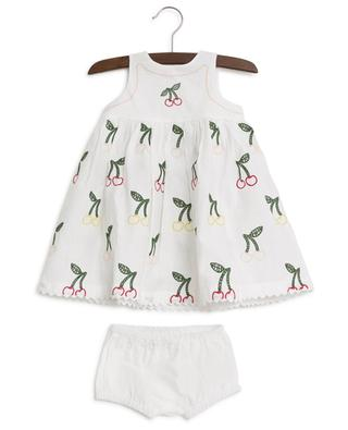 Cherry embroidered linen and cotton dress STELLA MCCARTNEY