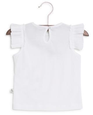 Gerüschtes T-Shirt mit Nachricht Cherry Cute STELLA MCCARTNEY