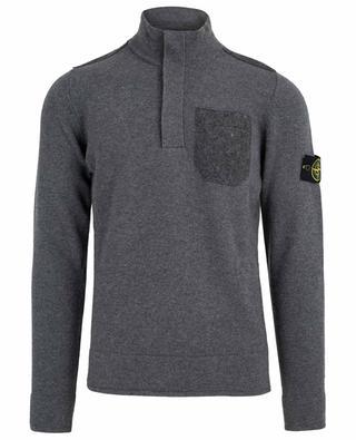 Buttoned neck wool blend jumper STONE ISLAND