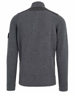 Pull en laine mélangée à col boutonné STONE ISLAND