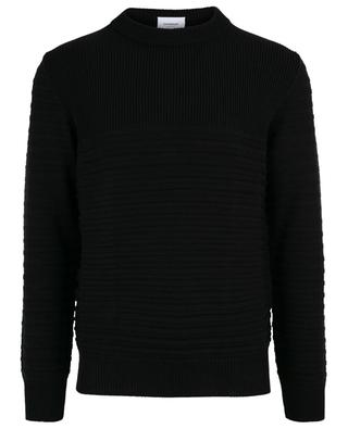 Textured stripe adorned jumper DONDUP