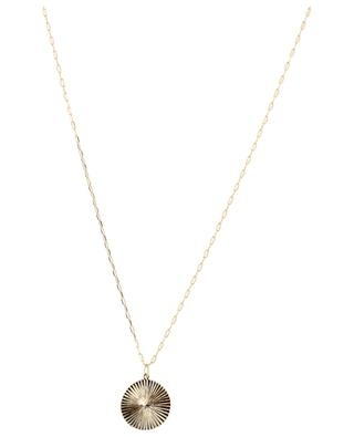 Sun medallion gold plated necklace BY JOHANNE