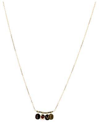 Alphabet City slogan and pyrite necklace BY JOHANNE