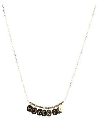 Alphabet City golden slogan necklace BY JOHANNE