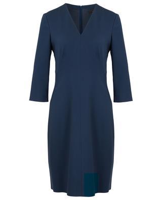 Kleid mit V-Ausschnitt aus Viskosemischgewebe WINDSOR