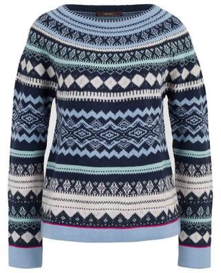Virgin wool and cashmere knit jumper WINDSOR