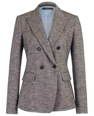 Blazer à carreaux en laine vierge et coton mélangés WINDSOR