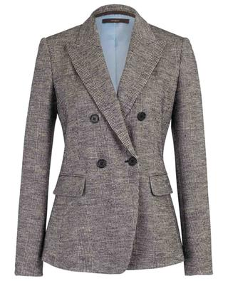 Checked virgin wool and cotton blend blazer WINDSOR