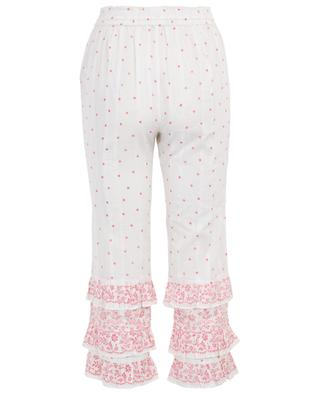 Kenley light-weight cotton cropped trousers LOVESHACKFANCY
