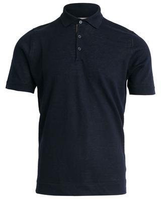 Linen and cotton polo shirt BRUNELLO CUCINELLI