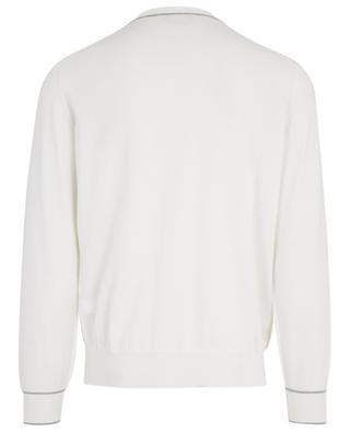 Thin cotton jumper with contrasting details BRUNELLO CUCINELLI