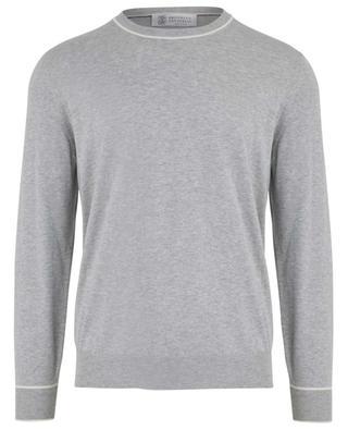 Cotton long-sleeved T-shirt BRUNELLO CUCINELLI