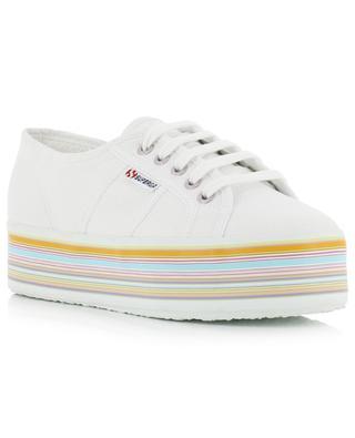 2790 - MULTICOLOR stripe detail platform sneakers SUPERGA