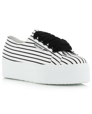Gestreifte Plateausneakers 2790 - COTSTRIPE SUPERGA
