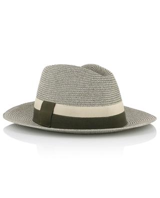 Leone grosgrain-trimmed woven paper hat ERES