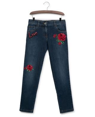 DG Leo embroidered slim fit jeans DOLCE & GABBANA