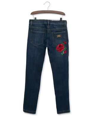 DG Leo embroidered slim fit jeans DOLCE & GABBANA