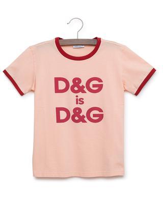 Bedrucktes T-Shirt D&G is D&G DOLCE & GABBANA