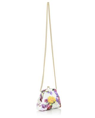Mini-sac en cuir orné de fleurs DOLCE & GABBANA