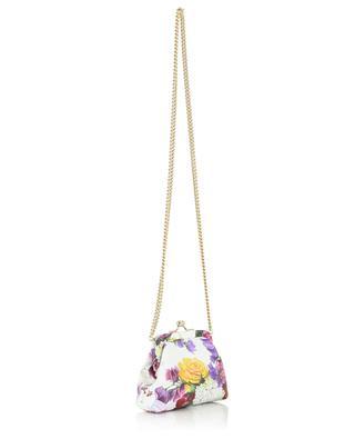 Minitasche aus Leder mit Blütenprint DOLCE & GABBANA