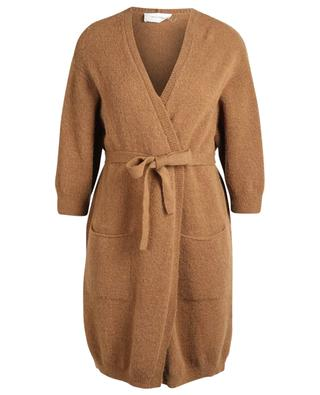 Vikiville wool and mohair cardigan with wrap belt AMERICAN VINTAGE