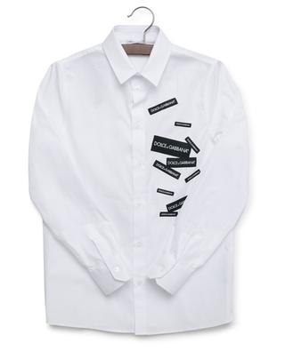 Chemise ornée de logos DG DNA DOLCE & GABBANA