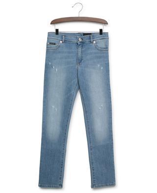 Slim-Fit Jeans im Used-Look mit Logo DG DNA DOLCE & GABBANA