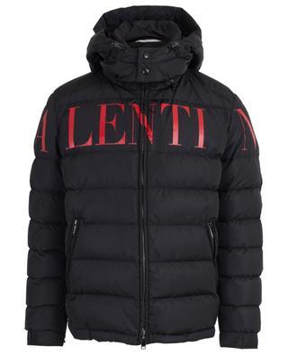 Valentino print hooded down jacket VALENTINO
