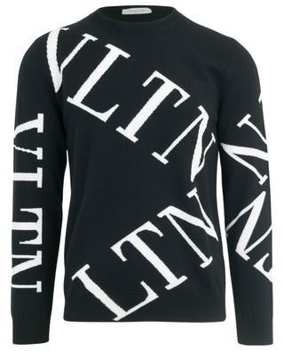 Pull jacquard logo VLTN Macrogrid VALENTINO