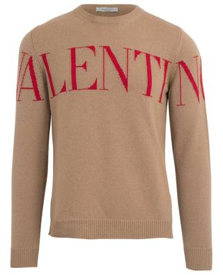 VALENTINO logo cashmere jacquard jumper VALENTINO