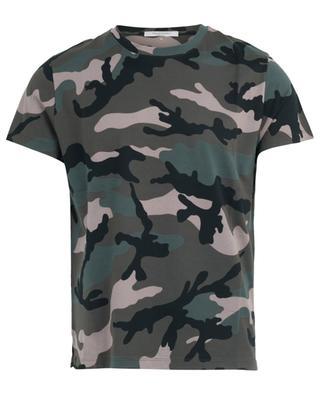 T-shirt en jersey imprimé Camouflage VALENTINO