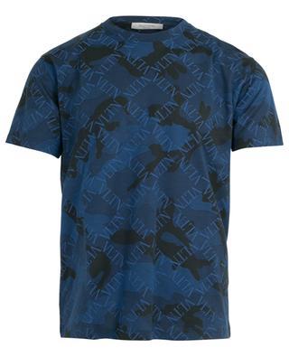T-Shirt mit Camouflage-Print VLTN Grid VALENTINO