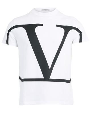 Bedrucktes Jersey-T-Shirt Macro VLOGO VALENTINO