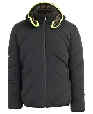 FF hooded reversible down jacket FENDI