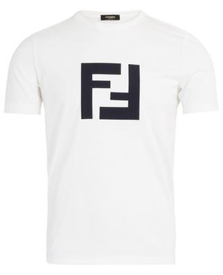 Satin FF logo adorned cotton T-shirt FENDI