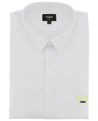 I See You Fluo embroidered slim fit shirt FENDI