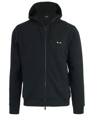 I See You neon embroidered zippered hoodie FENDI