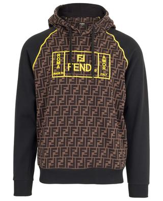 Cotton hoodie with FF logo FENDI