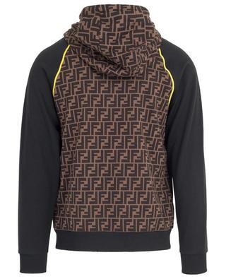 Sweat-shirt à capuche en coton logo FF FENDI