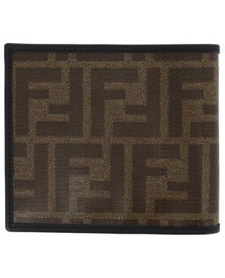 Brieftasche aus glasiertem FF-Jacquard Fendi Stamp FENDI