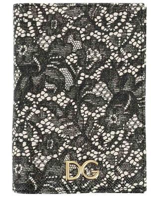 Dauphine lace print passport holder DOLCE & GABBANA