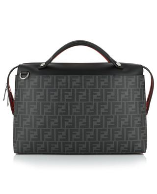 By The Way leather and glazed FF jacquard document case FENDI